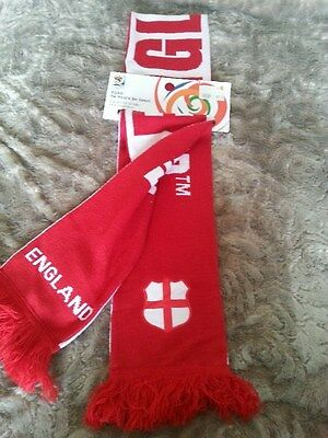 Genuine Licensed England Scarf Collectors From 2010 Fifa World Cup  - New!