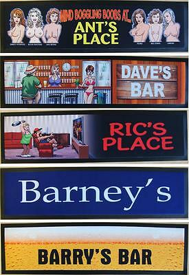 Personalised Bar Runner Mat Choose your own text - Great Gift!