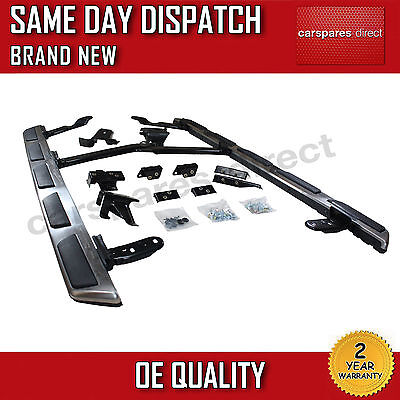 BRUSHED STEEL OEM STYLE AUDI Q5 RUNNING BOARDS SIDE STEPS BARS 2008>on *NEW*