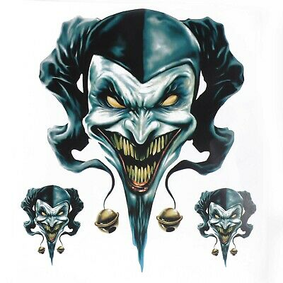 Hot Clown Jester Graphic Sticker/Decal Set For Motorcycle Motorbike #4