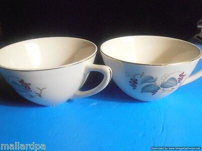 """Knowles Vintage X-4041 Flat Tea Cup - 2.5"""" Tall - One Pair Included"""