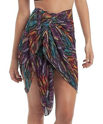 Panache SW0745 Swimwear Tallulah Sarong in Feather Print One size