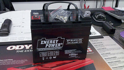 New 12V 35AH U1 SLA AGM Battery Scooter Wheelchair Replaces UB12350 AGM1234T