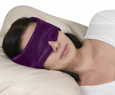 SleepAway Purple Wraparound Luxury Sleep Eye Mask. Blocks Out All Light & Sound