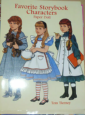 FAVORITE STORYBOOK CHARACTERS PAPER DOLL BOOK 1997 by TOM TIERNEY