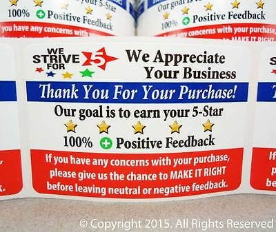 250 eBay Thank You For Your Purchase FB Shipping Label Labels Stickers 2x3 2 x 3