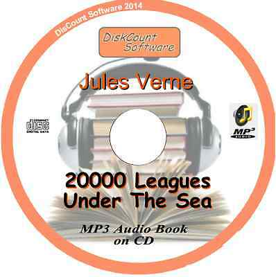 20000 Leagues Under The Sea - Jules Verne  MP3 Audio Book CD