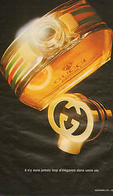 Publicité Advertising 1981 Parfum  GUCCI