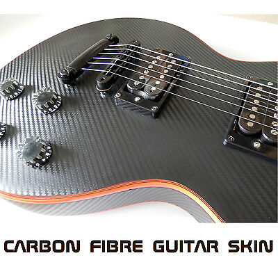 Black or Red Carbon Fibre Skin Wrap Vinyl for Electric Guitar Air Lease Sticker