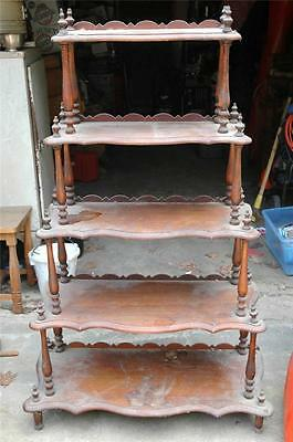 Antique Vintage 5-Shelf Curio What-Not Display Shelf