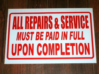 Any Service Business Sign: Repairs Service Paid