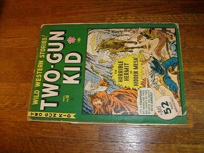 Two-Gun-Kid #10, 1949 Marvel Comic, No Back Cover