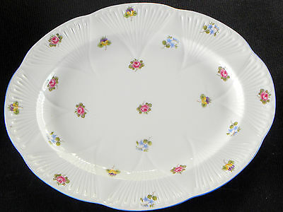 "SHELLEY BONE CHINA DAINTY SHAPE ROSE, PANSY FORGET-ME-NOT 12 3/4"" PLATTER read"