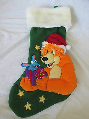 "21"" Large Disney Bear In The Big Blue House Jim Henson Plush Christmas Stocking"