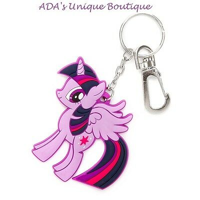 My Little Pony Twilight Sparkle Keychain Rubber Purple Key Chain Hasbro Licensed