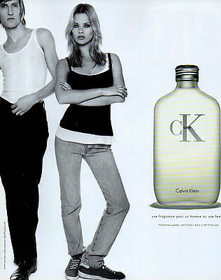 Publicité Advertising 1997  Parfum  ONE  de  CALVIN KLEIN  kate moss