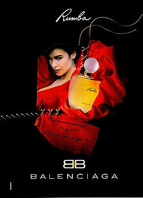 Publicité Advertising 1999  Parfum  Rumba de BALENCIAGA