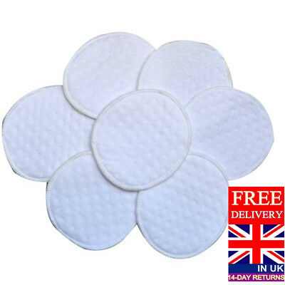 10 Reusable Washable Breast Feeding Baby Nursing Pads COTTON material UK Seller