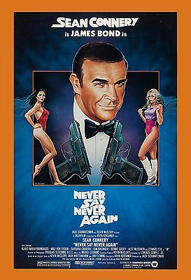 James Bond: * Never Say Never Again * Sean Connery USA  Movie Poster 1983