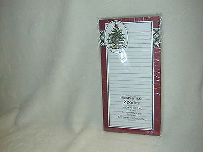 Spode Christmas Tree 60 Ruled Sheets Magnetic List Pad-New
