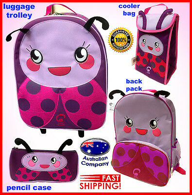 Luggage SET Animal backpack, lunch cooler, trolley pencil case Portable lady bug