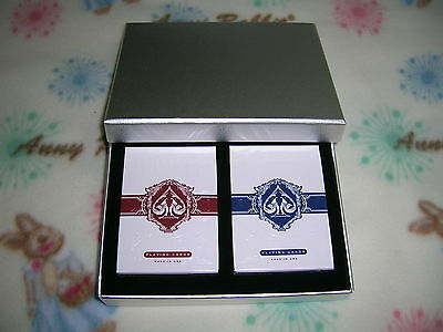 1 Set of 2 DECKS  Bicycle Legacy BLUE & RED Playing Cards W/ LUXURY BOX