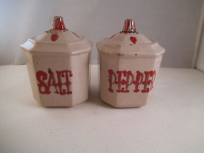 Vintage Pair of Galagray Salt & Pepper Shakers California Pottery Cleminsons
