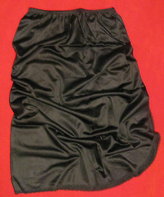 VANITY FAIR - Black Half Slip – Size Small - 25 1/2 inches long