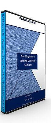 Plumbing/Central Heating Company Software/ Database EASY TO USE
