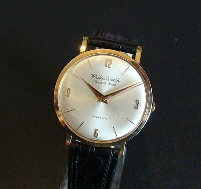 Orologio PHILIP WATCH  Oro Rosa 18kt.- 1960 - MINT CONDITION -New Vintage Watch
