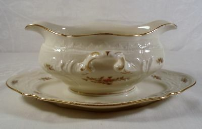 Rosenthal Sanssouci Rose Gravy Boat with Underplate