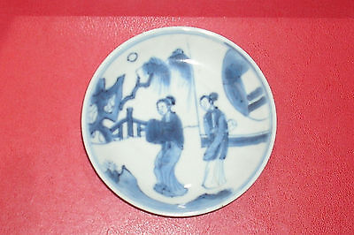 Small 18th C. Kangxi  Chinese Blue White Porcelain Plate