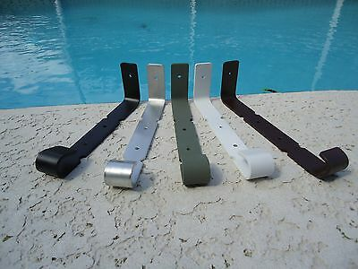 hurrican shutter bracket for hanging plants, lanterns, wind chimes