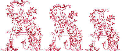 """ABC Designs Enlaced Romance Embroidery Initials 5""""x7"""" hoop - 78 Letters, 3 Sizes"""