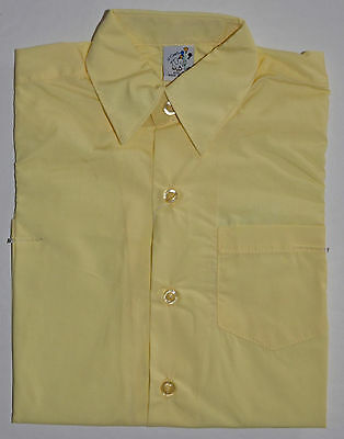 NEW Boy School Formal Shirt Lemon Sizes 5,6,8,10,12,14,16