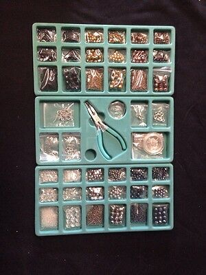 Learn to Bead Earrings, Necklace, Bracelet NWT QVC Beading Kit was $49 Metallic