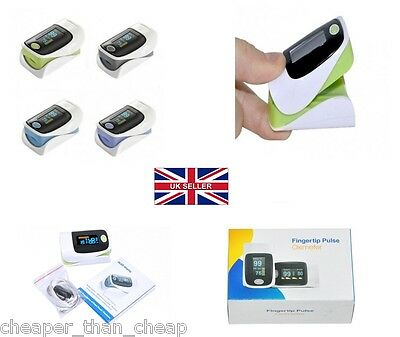 FINGER PULSE OLED OXIMETER Blood Oxygen Oxymetre SPO2 PR Heart Rate Monitor New