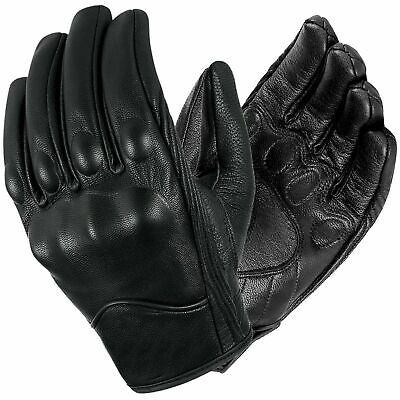 NEW Mens Short Motorcycle /cruiser Summer Leather Gloves with Knuckle protection