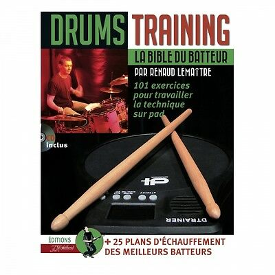 Méthode batterie « Drums Training »  JJ Rebillard - 101 exercices  avec CD