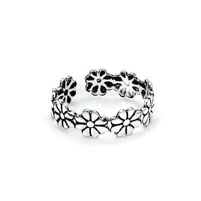925 Sterling Silver Cute Daisy Flower Toe Ring / Rings / Toes / Flowers