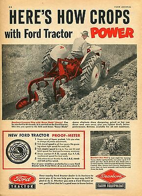 1951 Ford Dearborn Plow & Implements 2 Page Farm Tractor Magazine Ad