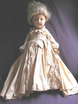 """Effanbee Historical Pre-Revolutionary Period 1760 Composition 16"""" Doll near mint"""