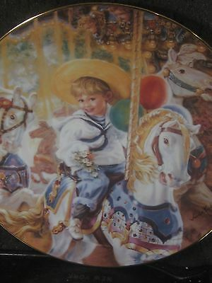 Reco 1991 Kuck  CAROUSEL OF DREAMS  Hearts and Flowers Ltd Ed Plate