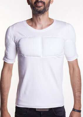Men padded undershirt - body shaper - clothes with muscles