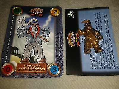 Monster in my pocket oro GOLD Invisible Man + italian card 2000