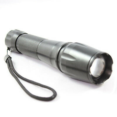 USA CREE XM-L T6 1600LM LED Flashlight Outdoor Torch +2x18650 Battery +Charger