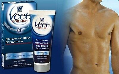 Veet For Men Hair Removal Cream 200ml Works in 4mins In Shower No razor rash UK