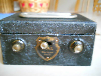 Antique Mini Metal Dial Savings Safe in Good Working Condition!!!