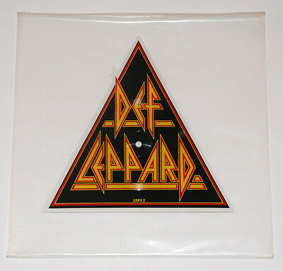 Def Leppard 'Pour Some Sugar On Me' LTD Ed. UK '87 Shaped Picture Disc Rare OOP