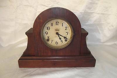 Antique Ingraham 8 Day Gonging Mantle Clock *1917* Running Condition